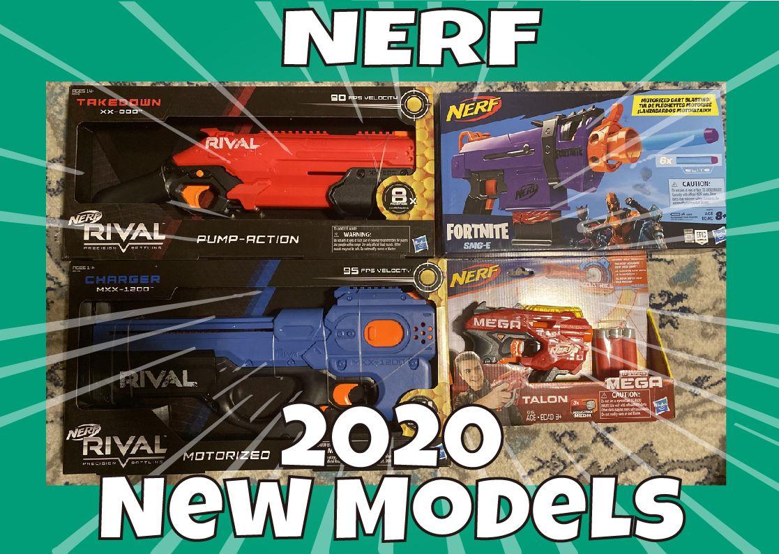 【新製品】早くも2020年発売のナーフが続々登場!テイクダウン、チャージャー、タロン、SMG…